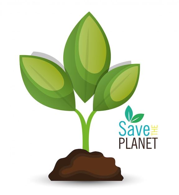 Design eco friendly Vettore gratuito
