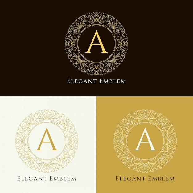 Design elegante astratto monogramma Vettore gratuito
