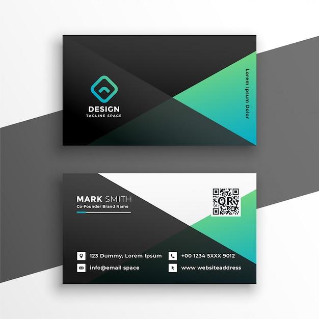 Design elegante biglietto da visita color turchese elegante Vettore gratuito