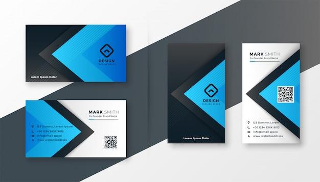 Design elegante blu moderno biglietto da visita Vettore gratuito