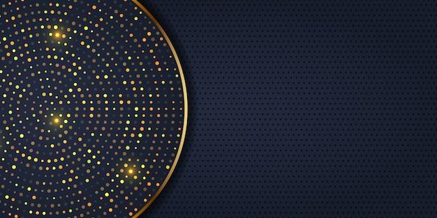 Design elegante del banner con puntini dorati Vettore gratuito