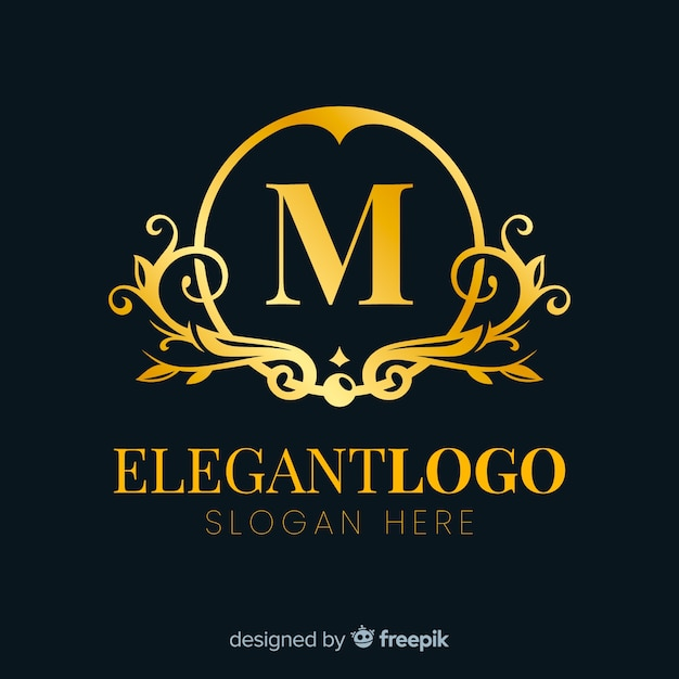 Design elegante logo dorato elegante Vettore gratuito