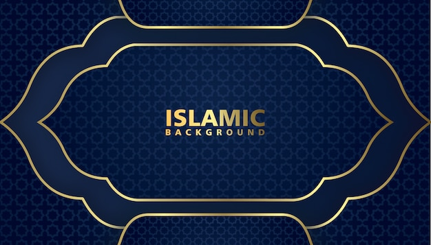 Design elegante lusso sfondo islamico Vettore Premium