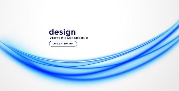 Design elegante onda blu presentazione Vettore gratuito