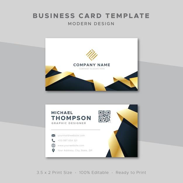 Design elegante per biglietti da visita modello oro Vettore Premium