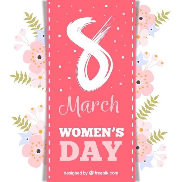 Design elegante womans day floreale Vettore gratuito