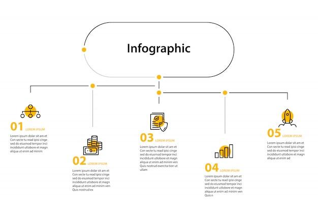 Design elemento infografica Vettore Premium