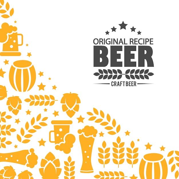 Design emblema logo brewery. Vettore gratuito