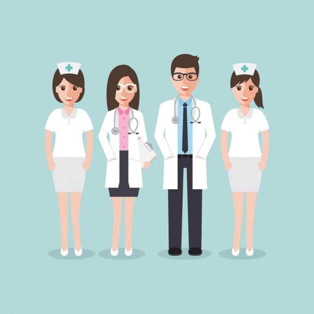 Design equipe medica Vettore gratuito