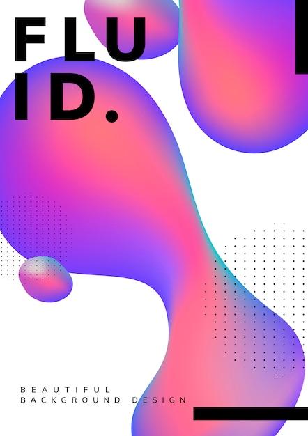 Design fluido della carta da parati con gradiente Vettore gratuito