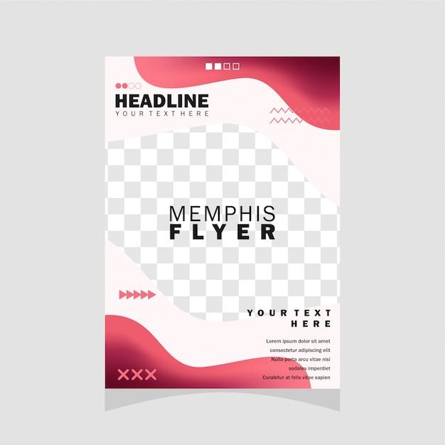 Design flyer memphis Vettore Premium