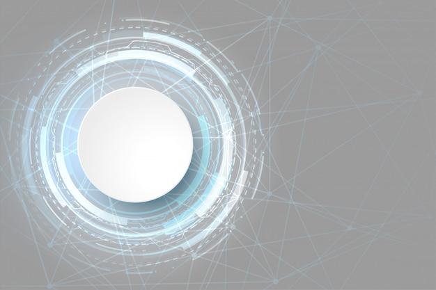 Design futuristico di visualizzazione dati tecnologia luminosa Vettore gratuito