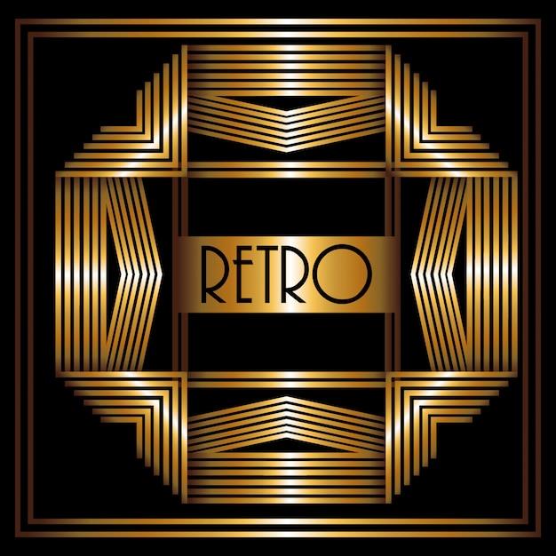 Design gatsby Vettore Premium