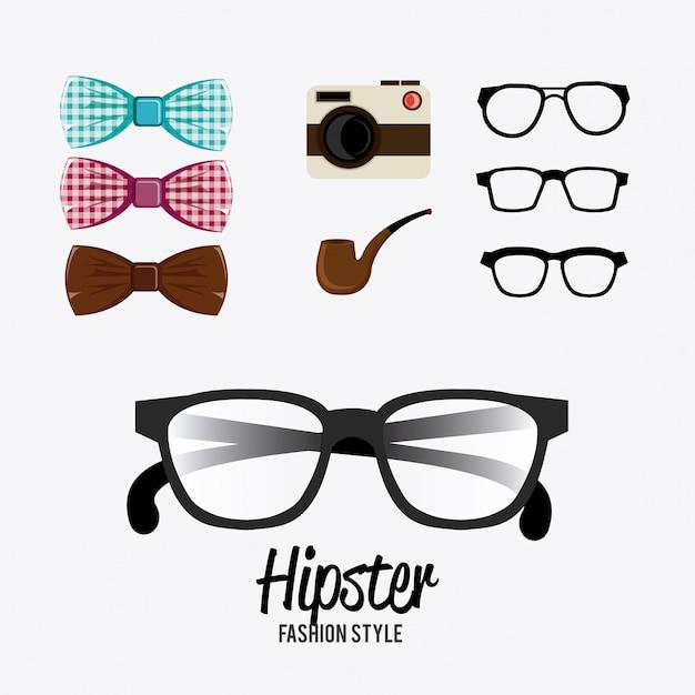 Design hispter. Vettore Premium