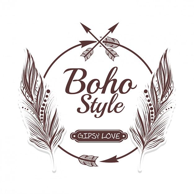 Design in stile boho Vettore Premium