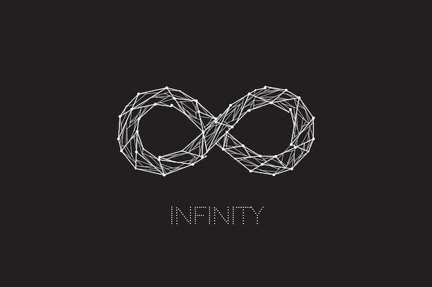 Design infinito con il concetto di punto di linea Vettore Premium
