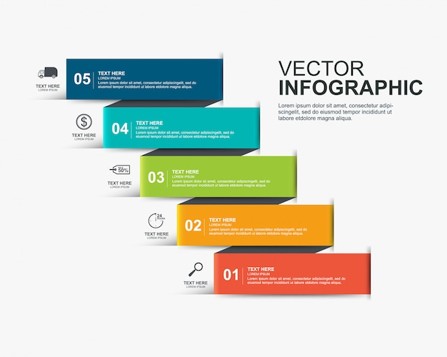 Design infografico Vettore Premium