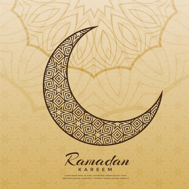 Design islamico della luna per la stagione del ramadan kareem Vettore gratuito