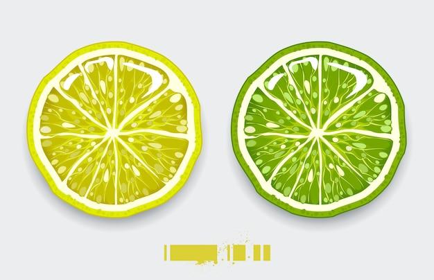 Design isolato limone Vettore gratuito
