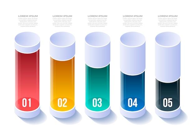 Design isometrico per infografica Vettore gratuito
