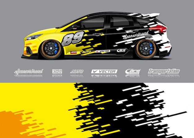 Design livellato per auto da corsa Vettore Premium