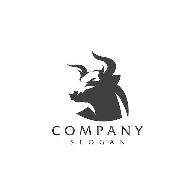 Design logo bull Vettore Premium