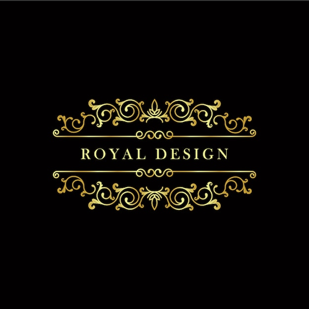 Design logo dorato Vettore gratuito