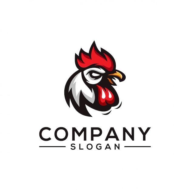 Design logo pollo Vettore Premium