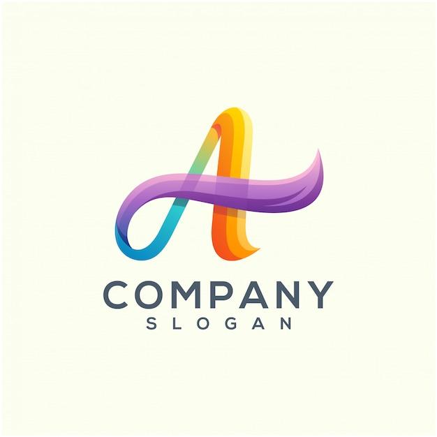 Design logo wave Vettore Premium