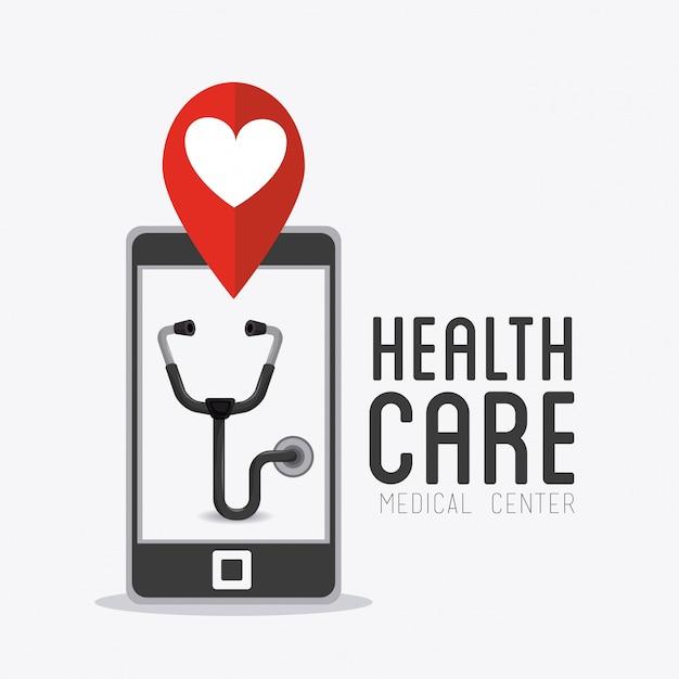 Design medico sanitario. Vettore Premium
