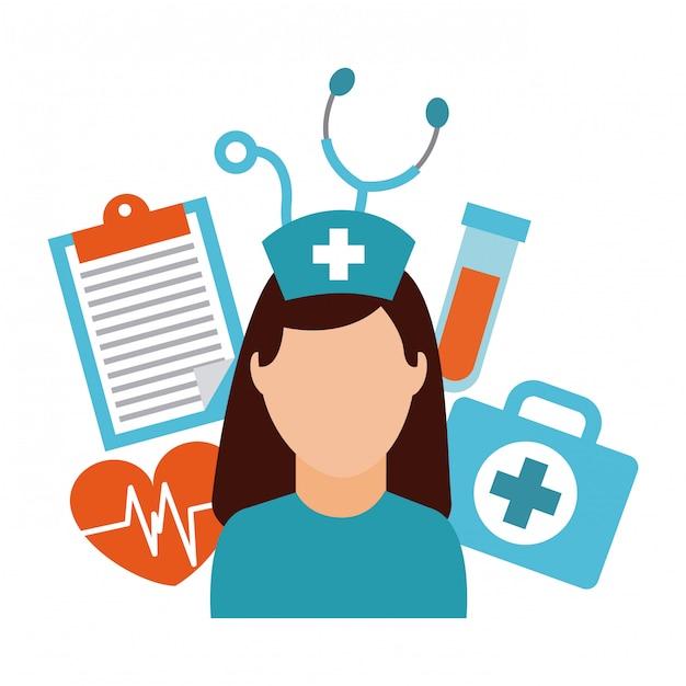 Design medico Vettore Premium