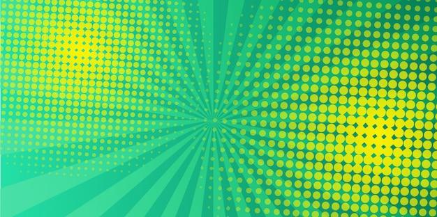 Design mezzotono verde Vettore Premium