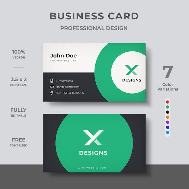 Design minimale del biglietto da visita Vettore Premium