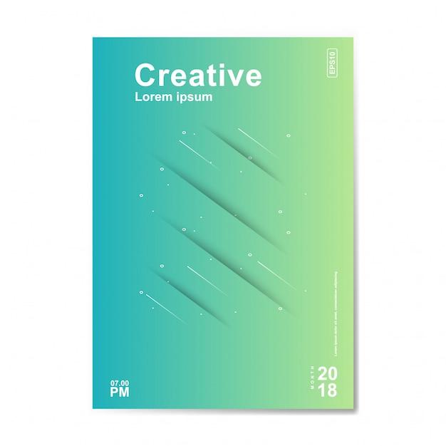 Design minimale delle copertine Vettore Premium