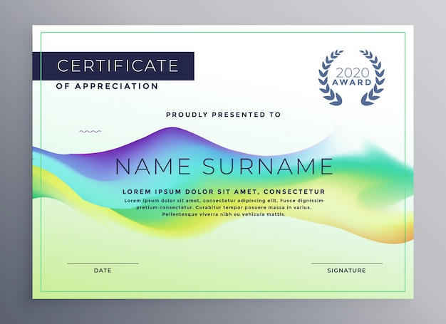Design modello di certificato di diploma creativo Vettore gratuito