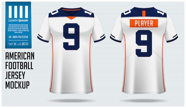 Design modello di maglia football americano o kit calcio Vettore Premium