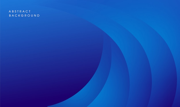 Design moderno astratto sfondo blu Vettore Premium