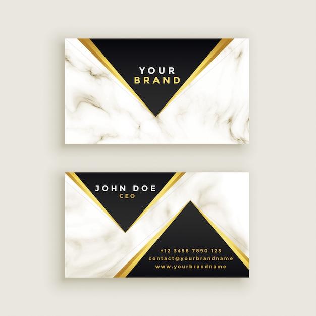 Design moderno biglietto da visita in marmo premium Vettore gratuito