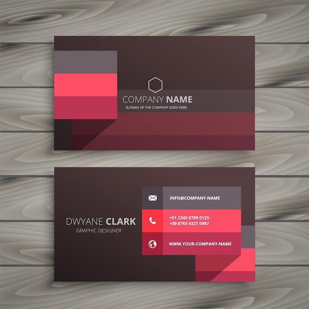 Design moderno biglietto da visita rosso Vettore gratuito