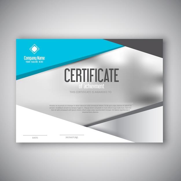 Design moderno certificato Vettore gratuito