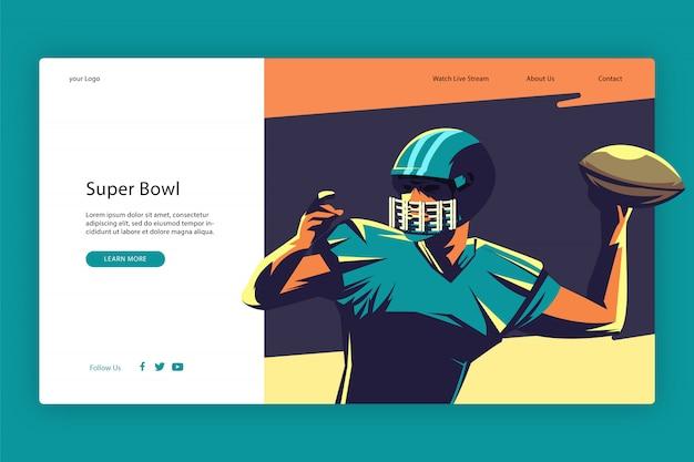 Design moderno del modello della pagina di destinazione Vettore Premium