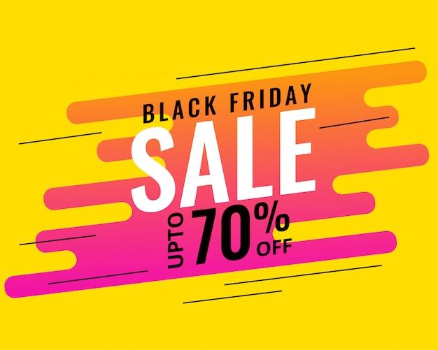 Design moderno di memphis stile nero venerdì vendita banner Vettore gratuito
