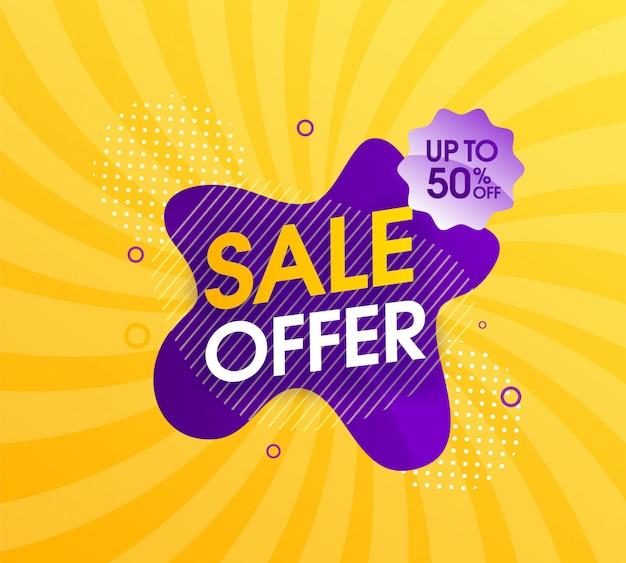 Design moderno di promozione di vendita astratta Vettore Premium