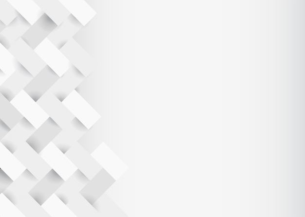 Design moderno sfondo bianco 3d Vettore gratuito