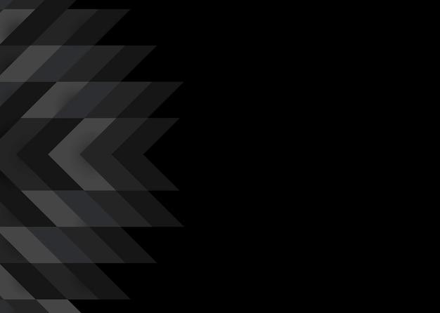 Design moderno sfondo nero 3d Vettore gratuito
