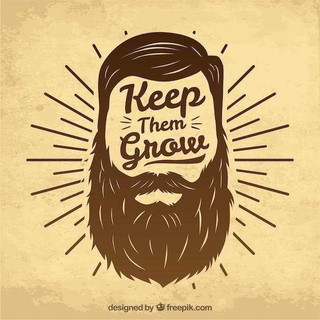 Design movember con barba di hipster Vettore gratuito