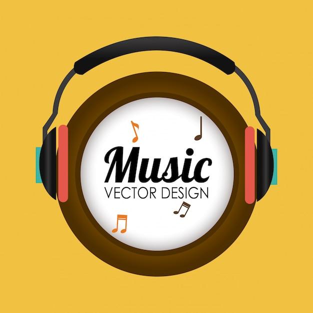 Design musicale Vettore Premium