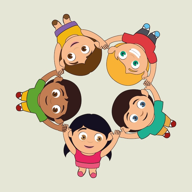 Design per bambini Vettore Premium