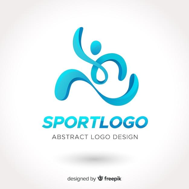 Design piatto astratto sport logo Vettore gratuito