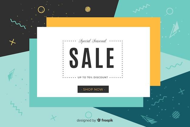 Design piatto astratto vendita sfondo Vettore gratuito